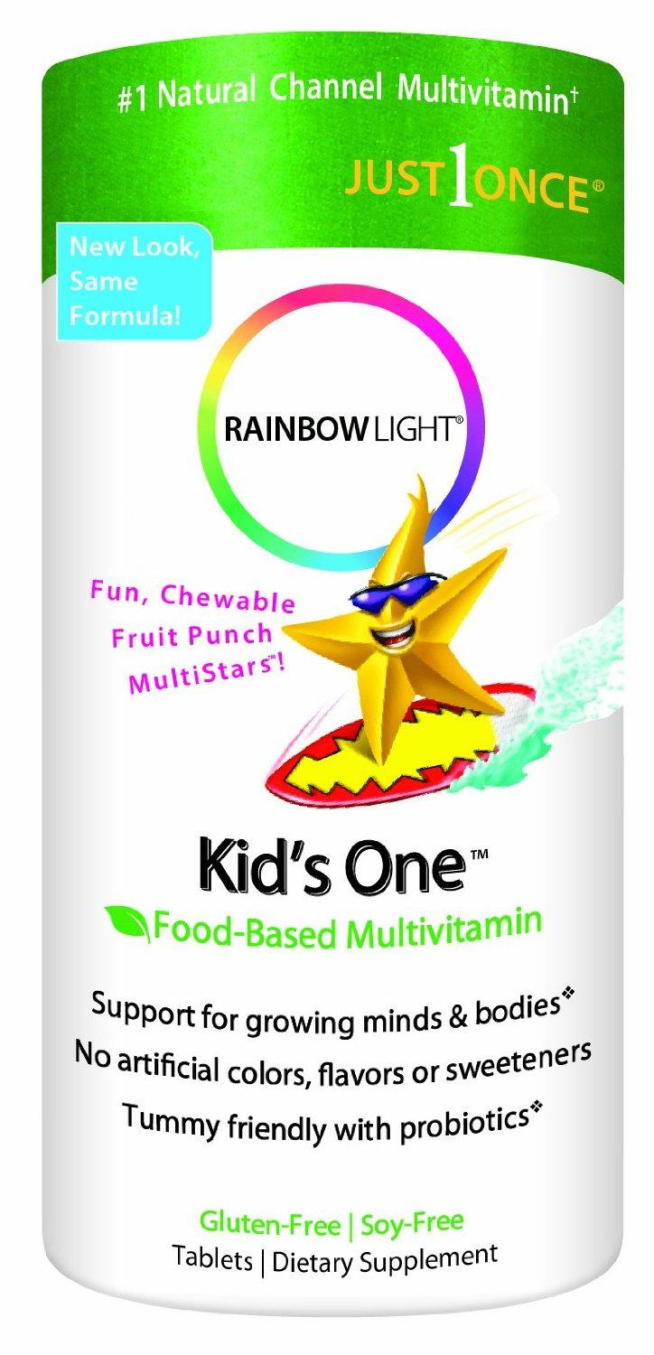 Rainbow Light Kids One MultiStars, Fruit Punch, Chewable Tablets, 90 tablets
