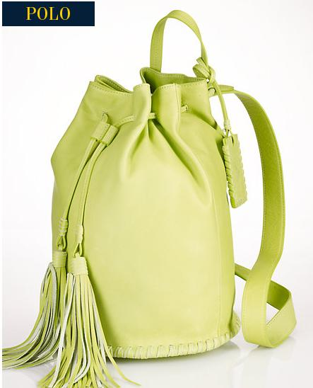 Ralph Lauren FRINGED-DRAWSTRING BACKPACK