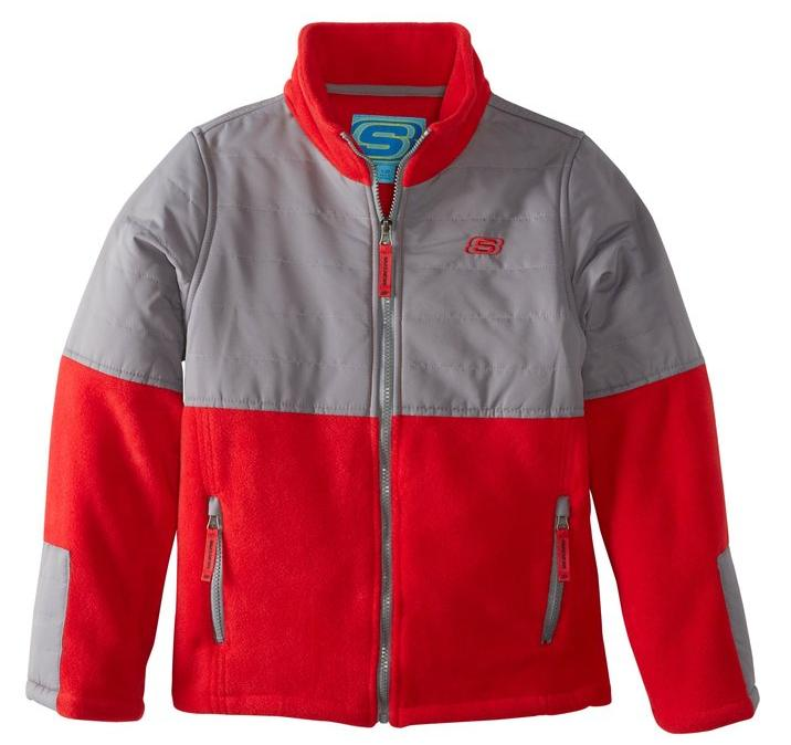 Skechers Big Boys' Full-Zip Polar-Fleece Jacket