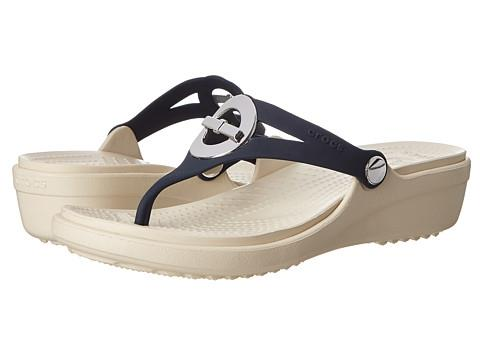 Women's Sanrah Circle Bow Wedge @ Crocs