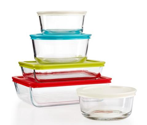 Pyrex 10-Piece Simply Store Set with Colored Lids @ Macy's