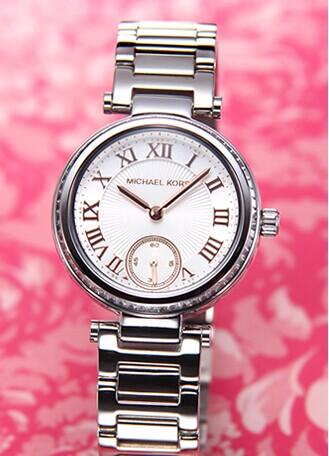 MICHAEL KORS Skylar Silver Dial Stainless Steel Ladies Watch @ JomaShop.com