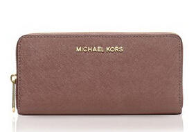 MICHAEL Michael Kors Wallet - Saffiano Zip Around Continental