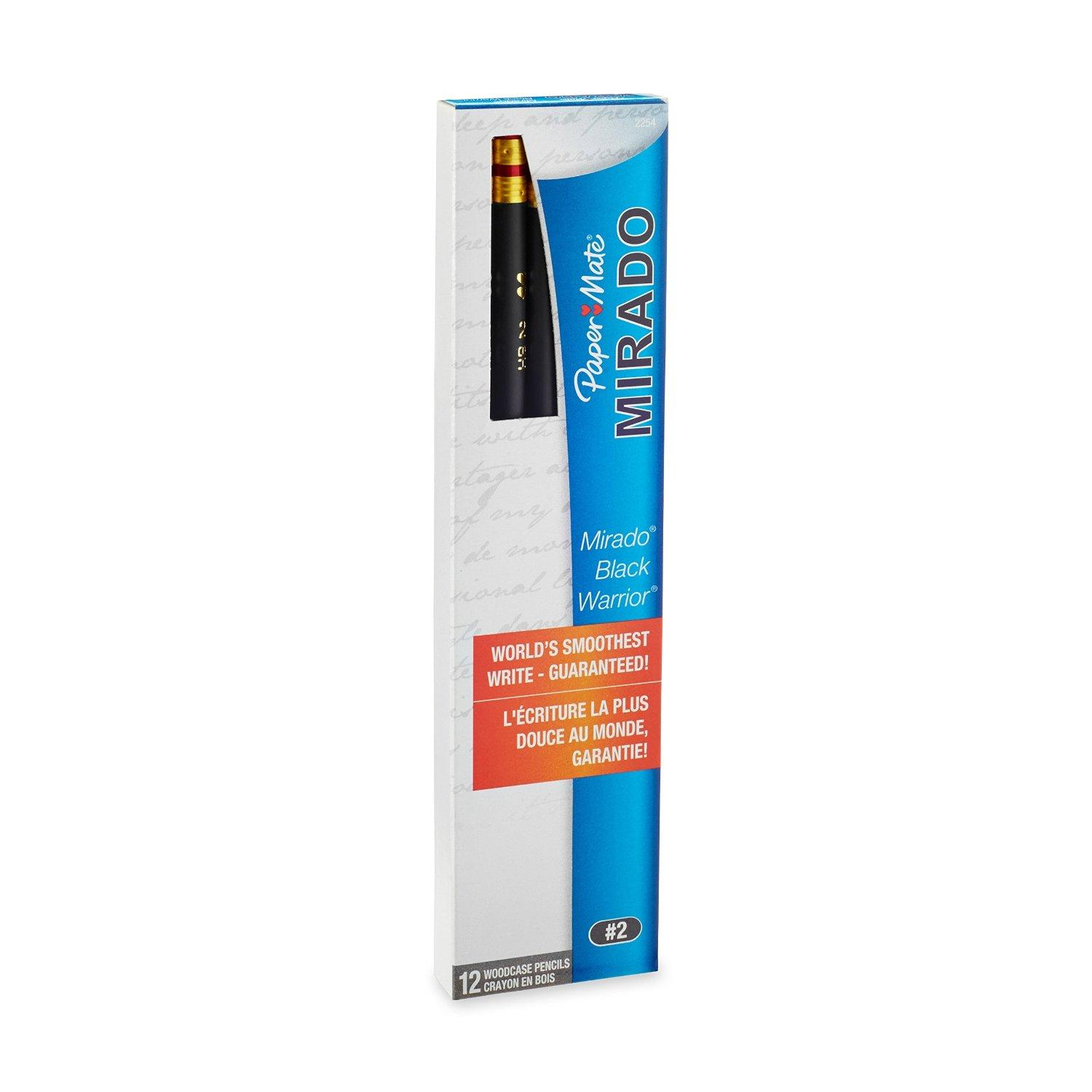 $1.00 Paper Mate 12 Count #2 Mirado Black Warrior Lead Pencils