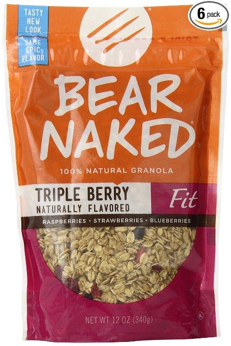 Bear Naked Granola Pouches Triple Berry Fit 12 Ounce (Pack of 6)