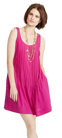 Ralph Lauren Pleated Sleeveless Dress