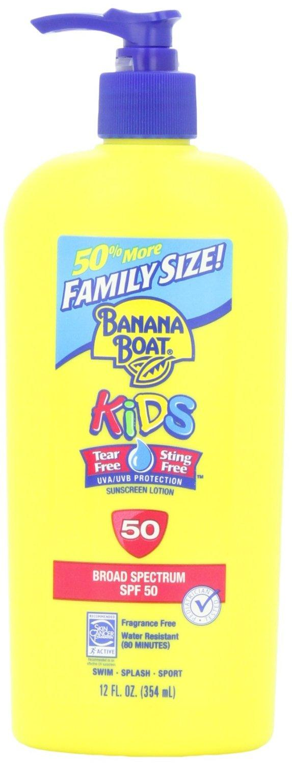 $9.44 Banana Boat Sunscreen Kids Family Size Broad Spectrum Sun Care Sunscreen Lotion - SPF 50, 12 Ounce