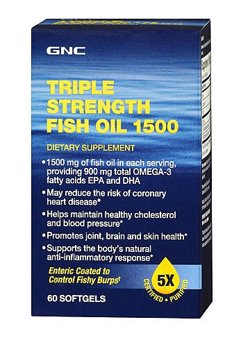 3 For $25 GNC Triple Strength Fish Oil 1500 60 softgels