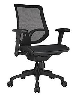 WorkPro 1000 Series Mid-Back Mesh Task Chair + 3-Prong Portfolio With 2 Pockets