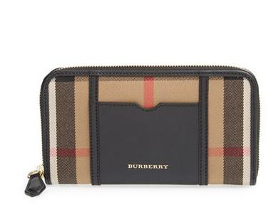 Burberry 'Ziggy - Large' Check Print Zip Wallet
