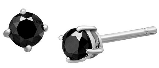 1/4 ct Black Diamond Stud Earrings