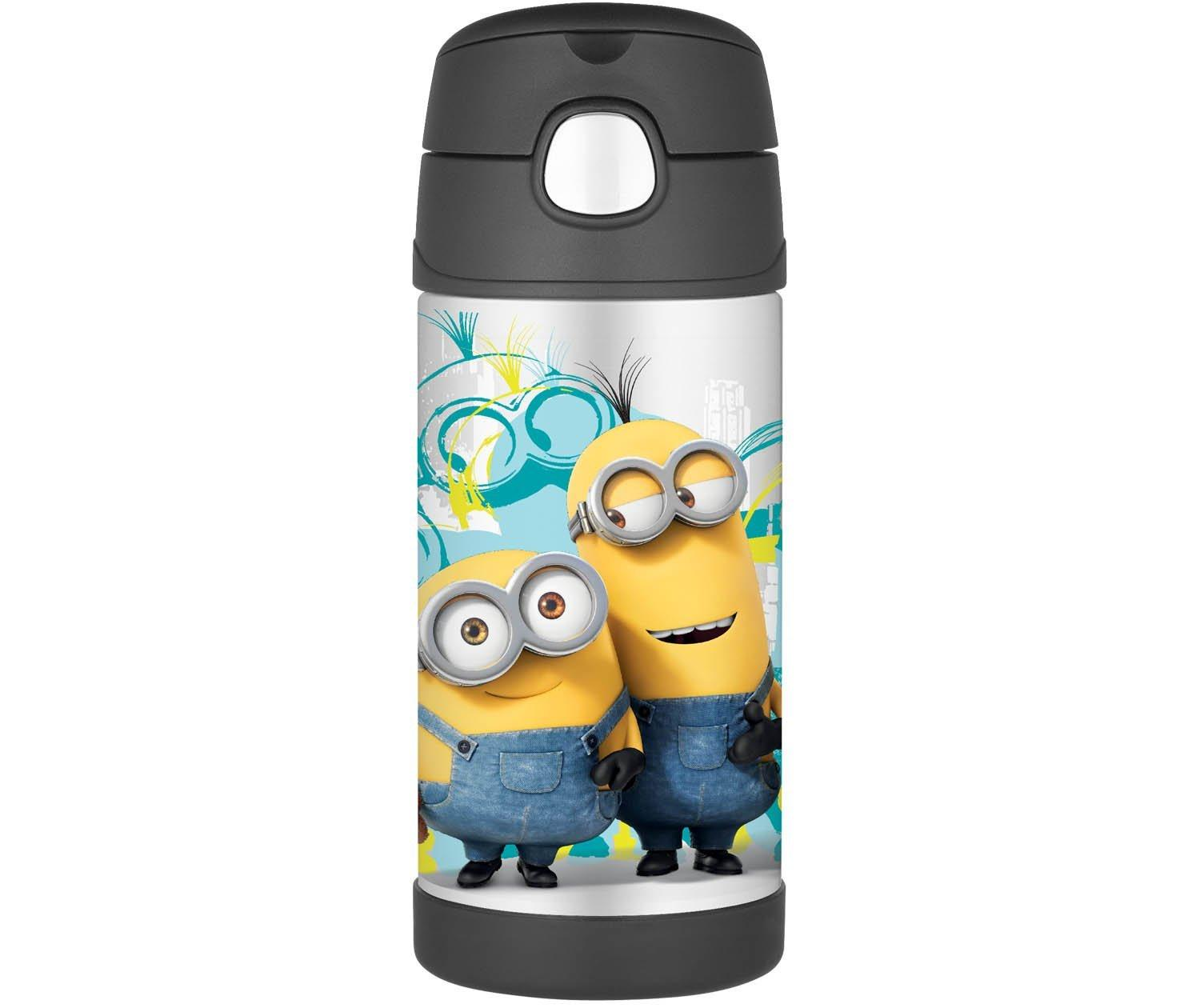 Thermos 12 Ounce Funtainer Bottle,Minions