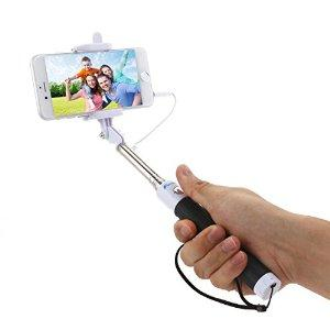 Selfie Stick- Foxnovo Selfy Stick Self-Portrait Monopod BatteryFree for Apple iPhone 6 Plus, 6