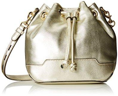 Rebecca Minkoff Mini Fiona Bucket Cross Body Bag, Pewter