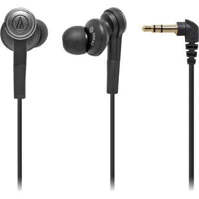 Audio-Technica ATH-CKS55USBK Solid Bass Noise Isolating In-Ear Headphones