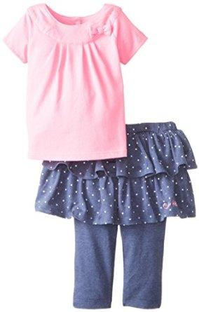 Calvin Klein Baby Girls' Top with Denim Skeggings