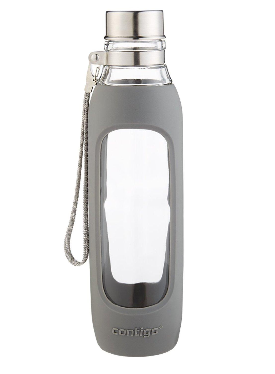 Contigo Purity Glass Water Bottle, 20-Ounce