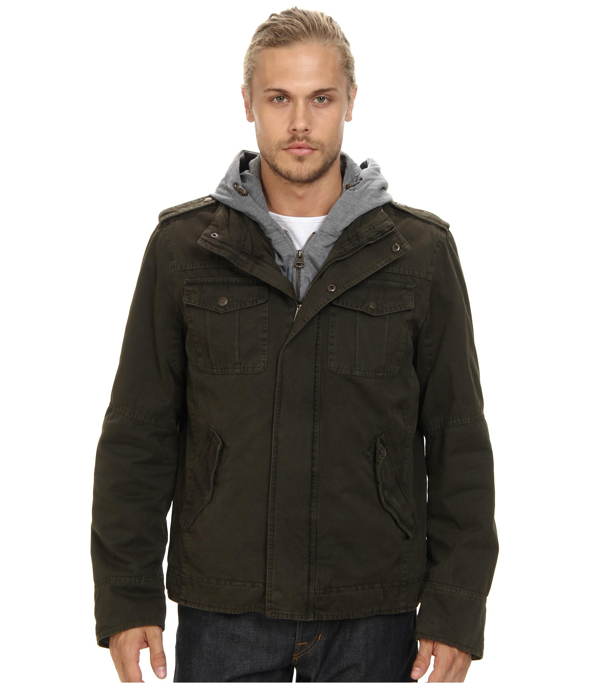 Levi's Washed Cotton Four-Pocket Shortie with Zip Out Fleece Hood