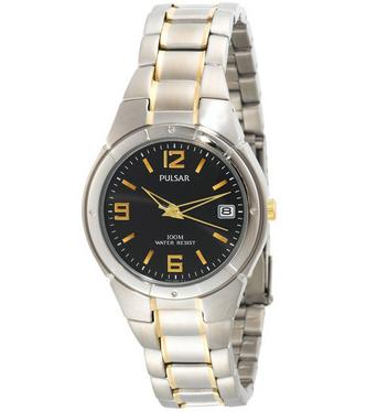 Pulsar by Seiko Men's Easy Style Collection Two-Tone Stainless Steel Watch @ Shnoop
