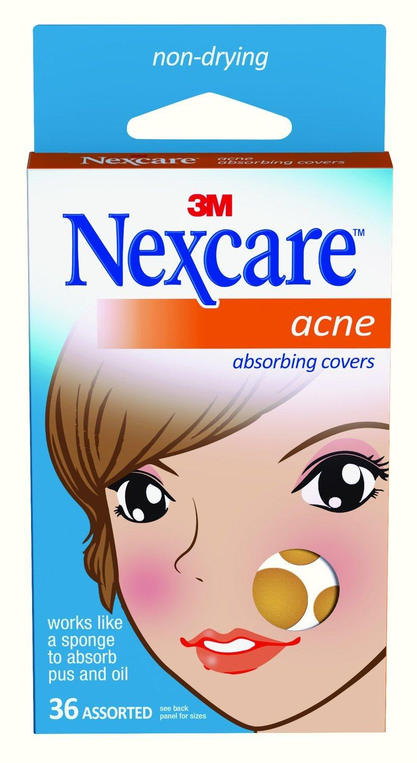 5.70 Nexcare Acne Absorbing Cover, Two Sizes, 36 Count