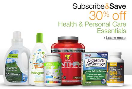 Extra 30% Off   Subscribe & Save on Health and Personal Care Essentials