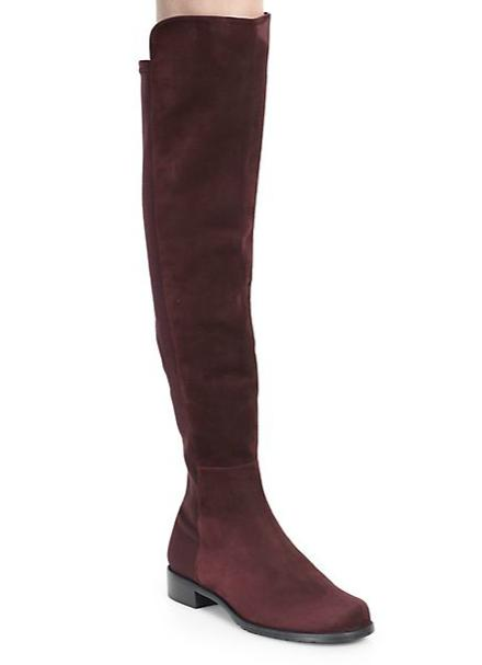 $655 + $100 Stuart Weitzman 5050 Suede Over-The-Knee Boots @ Saks Fifth Avenue