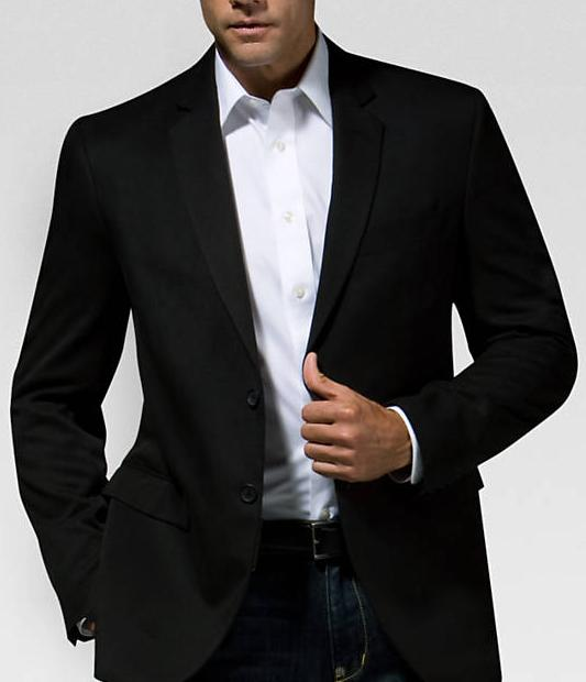 Kenneth Cole Black Graphic Sport Coat