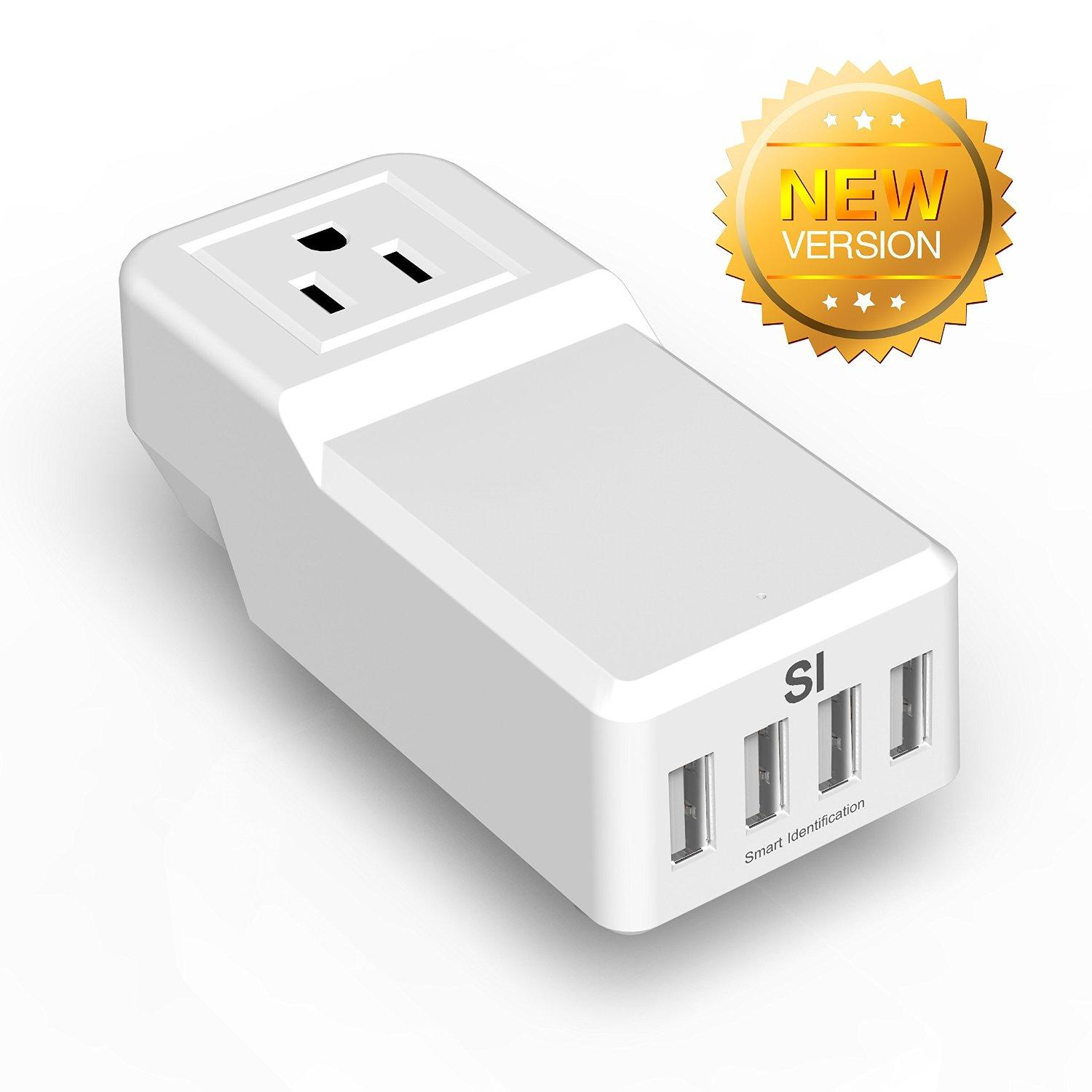 Levin™ 25W 5A Mini USB Travel Charger Surge Protector with 4 USB Ports
