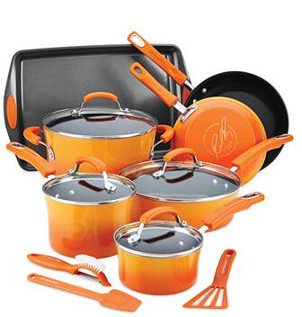 $89.99 Rachael Ray 14-Piece Nonstick Cookware Set(3 colors)