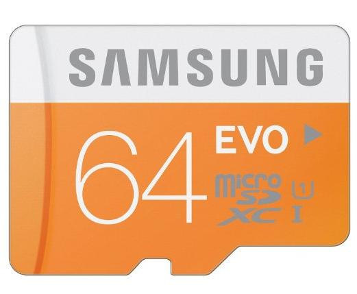 Samsung 64GB EVO Class 10 Micro SDXC with Adapter MB-MP64DA/AM