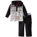 Calvin Klein Baby Boys' Black Stripes Hoody with Pants