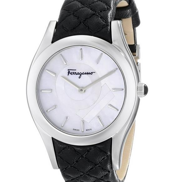 $399 Salvatore Ferragamo Women's LIRICA Quartz Black Watch