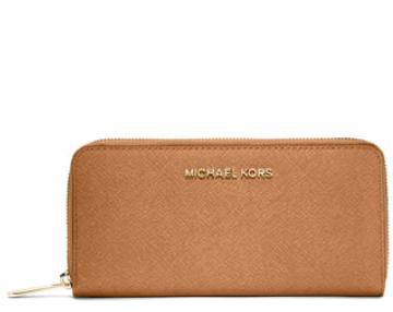 MICHAEL Michael Kors  Jet Set Zip-Around Continental Travel Wallet, Peanut @ Neiman Marcus