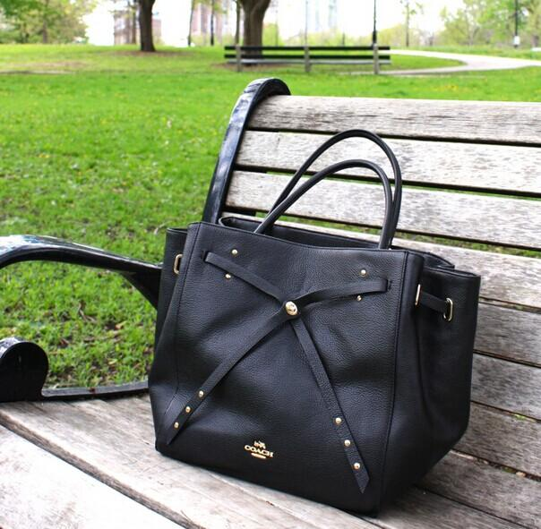 COACH 'Turnlock Tie' Leather Tote @ Nordstrom