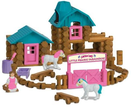 Lincoln Logs Little Prairie Farmhouse Building Set