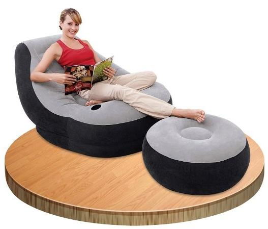 $23.95 Intex Inflatable Ultra Lounge with Ottoman