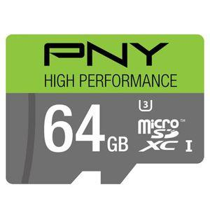 PNY High Performance 64GB High Speed MicroSDXC Class 10 Memory Card