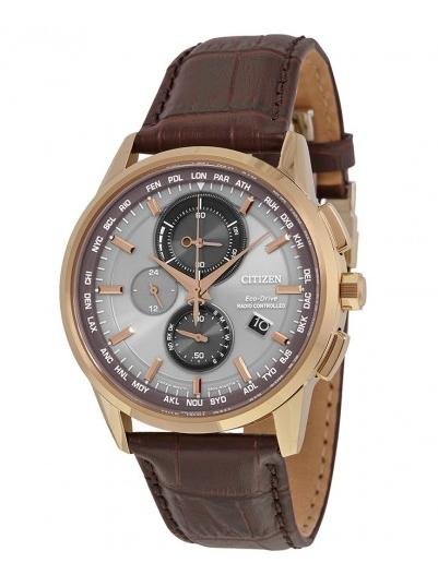 Citizen Eco-Drive Brown Leather Strap Men's Perpetual Calendar Watch @ JomaShop.com