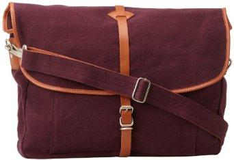 Lowest price! Fred Perry Men's Twill Satchel Bag, Mahogany