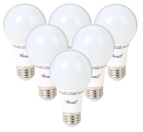 $22.99 6 Pack A19 Non-Dimmable LED Light Bulb, E26 Base @ Tanga