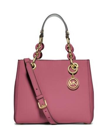 Cynthia Small Leather Satchel @ Michael Kors