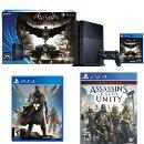 $399.00 PlayStation 4 500GB Console - Batman Arkham Knight Bundle with Destiny and Assassin's Creed Unity