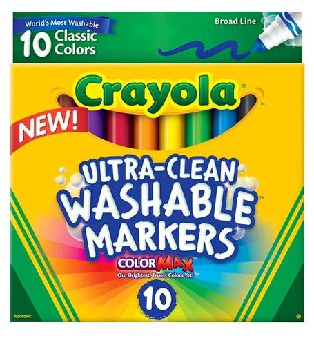 $1.97 Crayola Ultra-Clean 10-ct. Classic Colors Washable Broad Line Markers @ Target.com