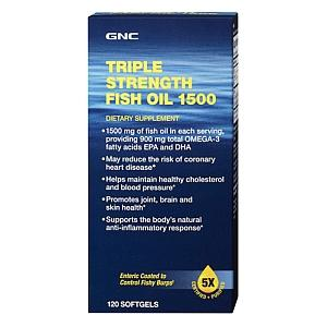 GNC Triple Strength Fish Oil 1500 (120 Softgels)