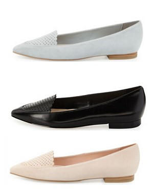 Cole Haan Allison Perforated Pointed-Toe Flat (3 colors)