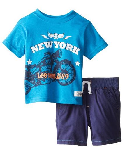 Lee Baby Boys' New York Biker Tee Short Set(12month)