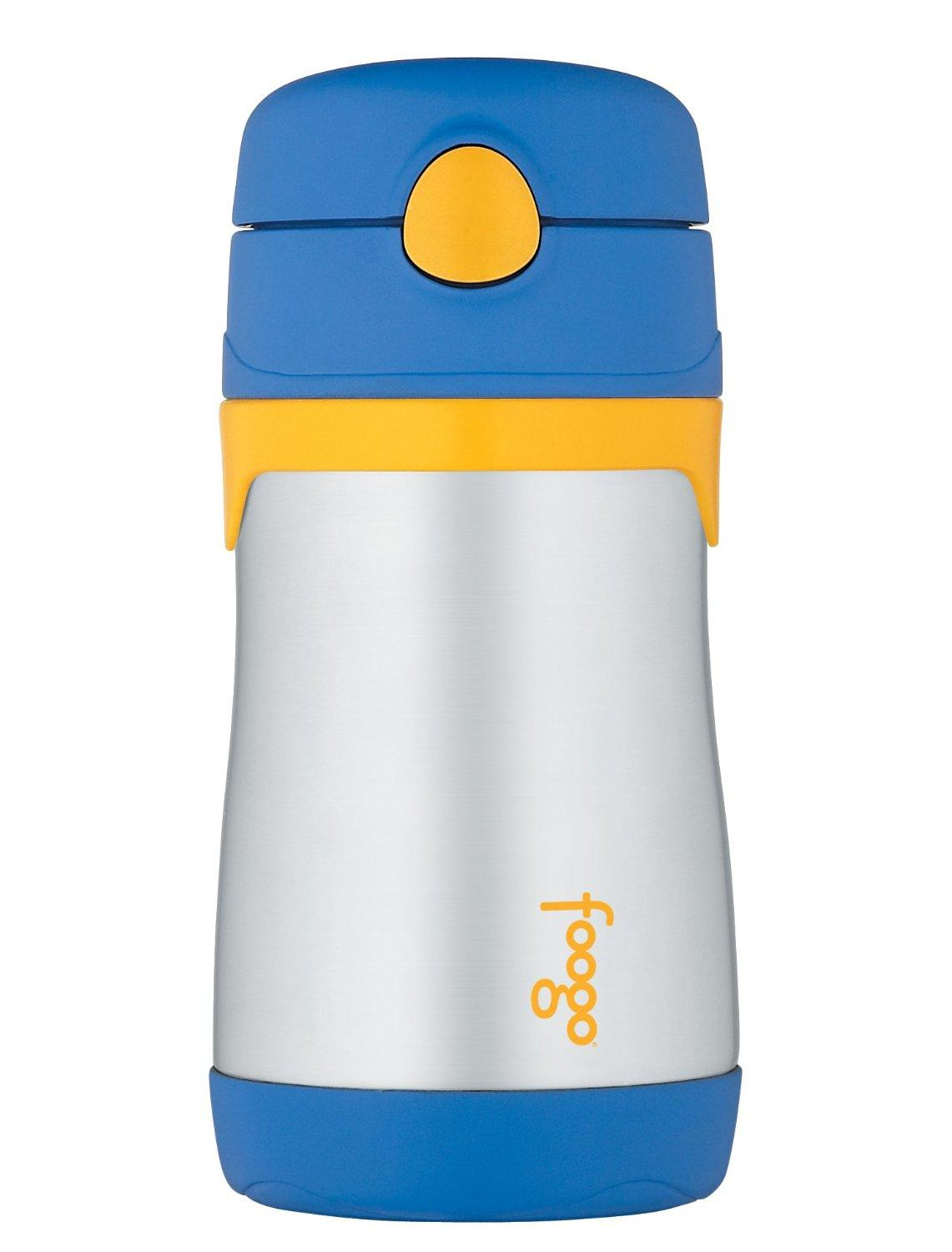 THERMOS FOOGO Vacuum Insulated Stainless Steel 10-Ounce Straw Bottle