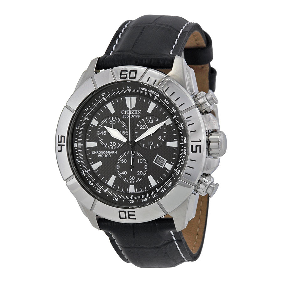 Citizen Eco Drive Black Chronograph Dial Sport Men's Watch