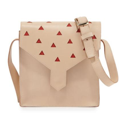 Lauren Merkin Margot Leather Cutout Shoulder Bag, Natural @ Neiman Marcus