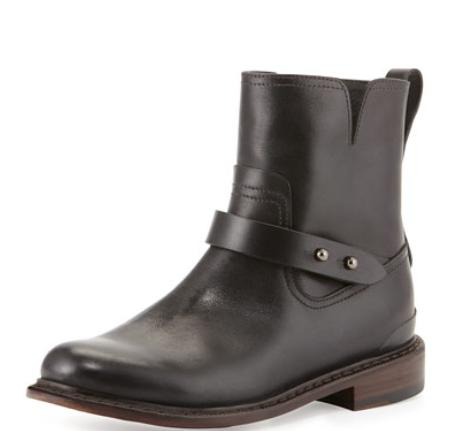 Rag & Bone Ashford New Moto Boot, Black @ Bergdorf Goodman